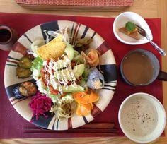 Food at Dechibica in okinawa, japan