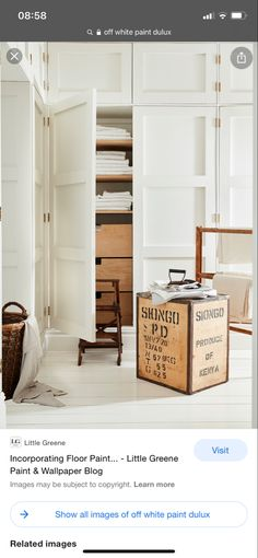 Little Greene Paint, Off White Paints, Painting Wallpaper, Blog Images, Painted Floors, Entryway, Flooring, Storage, Furniture