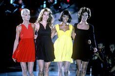Linda Evangelista, Cindy Crawford, Naomi Campbell, and Christy Turlington - crfashionbook
