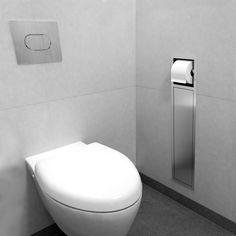 Stainless steel toilet brush holder / built-in
