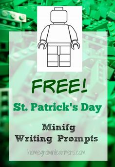 LEGO Minifig St. Patrick's Day Writing Prompts - Home - Homegrown Learners