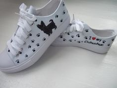 Hand Painted Canvas Dog Shoes by DreamInColorByStacie on Etsy