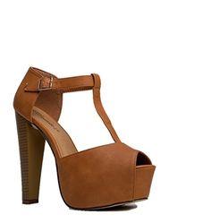 BreckellesWomen's BRINA-21 Peep Toe High Heel T-Strap Platform Sandals, DK-Tan, Size 10 - http://all-shoes-online.com/breckelles/10-b-m-us-breckelles-womens-brina-01w-open-toe-high-t-4