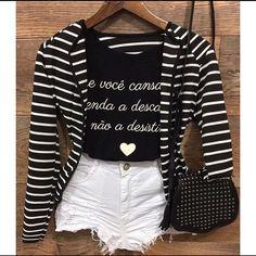 ♛ Pinterest: @niazesantos ♡ ♛ Fashion / Dress / Dresses / Look / LookOfTheDay / Inspiration / Glam / MakeUp / Noivas / Shoes / Decoration / Decoração / Cozinha / Kitchen / Sapatos / Moda / Hair / Cabelo / Penteados / Food / Comida / Break / Photo / Photograph / Fotos Fashion Line, Girl Fashion, Fashion Looks, Fashion Outfits, Teen Girl Outfits, Outfits For Teens, Dress Outfits, Casual Outfits, Cute Outfits