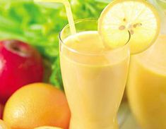 Lemon Smoothie for flat belly