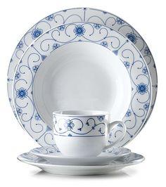 Aida Blå blomst dinnerware.
