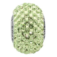 # Inspiration In Bloom   14mm Peridot Swarovski Elements Crystal Rhinestone BeCharmed Pavé Bead | Fusion Beads