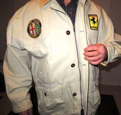 Sale was 90.00 now 54.95 Alfa Romeo owners club Ferrari cotton Jacket Vintage ferrari jaket by Mayuls on Etsy