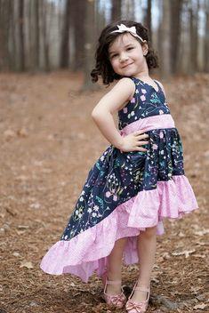 Hope's Hi-Low Dress PDF Pattern Sizes 6/12m to 8 Kids   Etsy High Low Skirt, Hi Low Dresses, Step By Step Instructions, Bodice, Flower Girl Dresses, Daughter, Pdf, Fancy, Princess