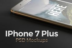 Iphone 7 Plus. PSD Mockups Graphics 7 PSD filesAll files are easy to use. Just double-click the Smart Layer, copy and paste your image by Egor Shkolnikov Iphone 7 Plus, Mockup Creator, Mobile Mockup, Creative Brochure, Business Card Mock Up, Mockup Templates, Showcase Design, App Design, Design Art
