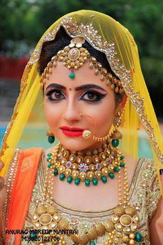 Pink n purple Indian bridal look by kajal sharma Best Bridal Makeup, Bridal Makeup Looks, Indian Bridal Makeup, Bridal Looks, Wedding Makeup, Bridal Style, Asian Bridal, Bridal Makup, Bengali Wedding