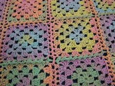 AllFreeCrochet.com - Free Crochet Patterns, Crochet Projects, Tips, Video, HowTo Crochet and More *Pastel Granny Square*