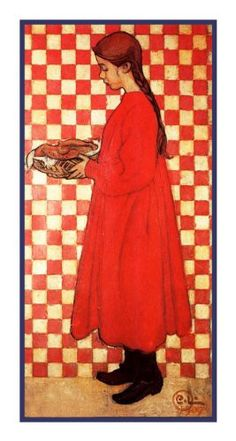 Kersti with Breadbasket by Swedish Artist Carl Larsson Counted Cross Stitch or…