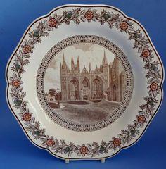Peterborough Wedgwood LNER Railway Cathedral Commemorative Creamware Plate Peterborough, Wedgwood, Cathedral, Badge, Decorative Plates, Tableware, Ebay, Dinnerware, Tablewares