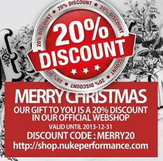 Nuke Performance 20% Christmas Discount