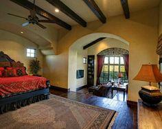 Nice House Interiors Mediterranean Bedroom Spanish Courtyards Style