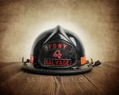 Vintage Fireman helmet Photo Art Print, FDNY Salvage, 12 Sizes Available from Print to Mounted Canvas