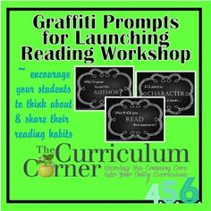 Graffiti Signs For Launching Reading Workshop | FREE |Printable | The Curriculum Corner