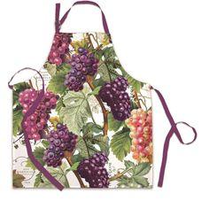 Vineyard Grapes on Vine Print Kitchen Chef Apron Cotton Michel Design Works