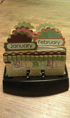 Birthday Calendar...love it!!  Make sure I get your birthday written in my rolodex!!