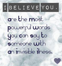 I BELIEVE YOU <3