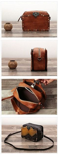 Full Grain Handmade Genuine Leather Women Cross body Messenger Bag We use genuine cow leather, quality hardware and nylon fabric to make the bag as good as it is. •With shoulder strap. •Zipper closure URL : http://amzn.to/2nuvkL8 Discount Code : DNZ5275C
