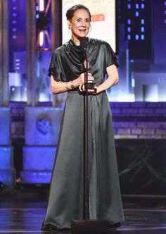 Fourth time lucky: Laurie Metcalf scooped up her first Tony Award out of four nominations, winning for leading the play A Doll's House, Part which is playwright Lucas Hnath's sequel to Henrik Ibsen's legendary A Doll's House Tony Award Winners, Broadway Stage, Bette Midler, Radio City Music Hall, Playwright, Best Actress, Awards, Normcore, Actresses