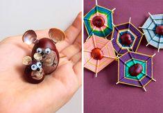 Conkers Craft, Diy For Kids, Activities For Kids, Diy And Crafts, Halloween, Drop Earrings, Create, Fun, Kids