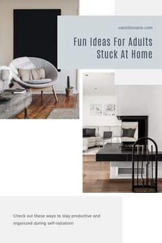 Stuck at home in self-isolation? These are fun ideas for adults stuck at home! Productivity, Office Desk, Organization, Check, Fun, Furniture, Home Decor, Getting Organized, Desk Office