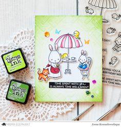 Mama Elephant Designer Series: Tea With Friends @akossakovskaya @mamaelephant #cardmaking #mamaelephant