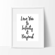 Infinity Quotes I Love You To Infinity And Beyond Vinyl Wall Quote With Moon And .