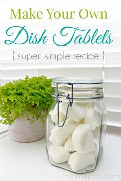 Dishwashing Detergent DIY: Homemade Dishwasher Tabs - Make Your Own Dishwasher Tablets or Dish Tabs - Super Simple Recipe Homemade Cleaning Products, Cleaning Recipes, Natural Cleaning Products, Cleaning Hacks, Diy Hacks, Cleaning Supplies, Cleaning Solutions, Household Products, Natural Products