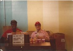 CHANGE BACK FROM YOUR DOLLAR  Eddie Butler and Joe Ralio wait for fans to stop by their stand at old Comiskey Park during  May, 1978.