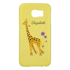 #Cute And Funny #Giraffe Roller Skating #Personalized Samsung Galaxy #S6 #Cases #galaxys6