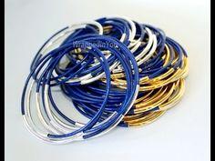 How To Make Leather Tube Bangle Bracelets - Bangles DIY step by step tut...