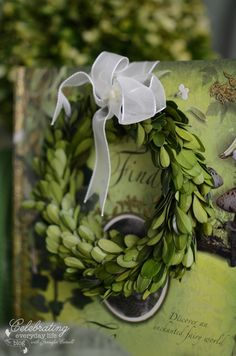 mini Boxwood wreath {Color Me} Dreaming of the Emerald Isle!