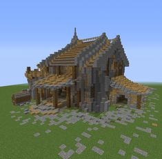Medieval Fantasy Storehouse GrabCraft Your number one source for MineCraft building Minecraft medieval house Minecraft houses Minecraft building blueprints