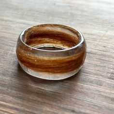Pet hair resin ring, perfect for keeping a cherished pet close by