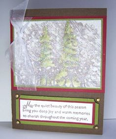 Dryer Sheet Technique by Charmaine Ikach. A fuzzy and glittery focal point makes your card unique! with video