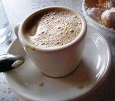 Cafe' au lait, my all time favorite comfort drink.