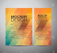 Abstract brochure business design template or roll up. Vector illustration. Stock Vector - 46077921