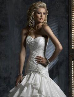 2011 Style Trumpet / Mermaid Sweetheart Court Trains Sleeveless Taffeta Wedding Dress For Brides