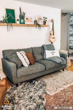 Bring home loft-style living in its most natural form. Shop Urbanology by Ashley Funriture HomeStore for Industrial and sleek-style furniture. Boho Living Room, Apartment Living, Home And Living, Living Room Decor, Bohemian Apartment, Bohemian Living, Living Rooms, Room Ideas Bedroom, Bedroom Decor