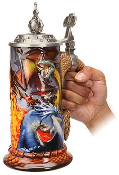GeekAlerts has shown you the Warcraft Mugs, so we thought you were ready to step it up to the next level. The World of Warcraft Stoneware Stein is a limited World Of Warcraft Merchandise, Old Beer Cans, Lich King, Warcraft 3, Cartoon Video Games, Geek Games, Beer Mugs, Stoneware, Cool Things To Buy
