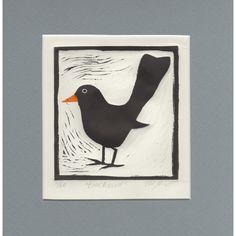 'Blackbird' Limited Edition Linocut Print