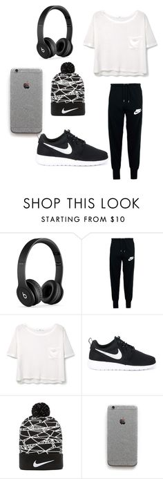 lazy day by myajane04 on Polyvore featuring MANGO, NIKE and Beats by Dr. Dre