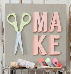 DIY Craft Room Decor by Fynes Designs // Make wood sign - perfect for a craft room