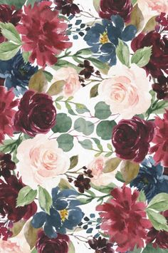 Drawing Flowers Burgundy Blue Watercolor Flowers Border Tissue Paper Flowers by JunkyDotCom - Beautiful hand drawn watercolor burgundy pink and navy blue flowers. Flower Background Design, Watercolor Flower Background, Watercolor Border, Flower Watercolor, Watercolor Ideas, Flower Backgrounds, Flower Wallpaper, Wallpaper Backgrounds, Phone Backgrounds