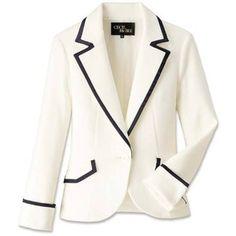 Perfect white jacket...I want!