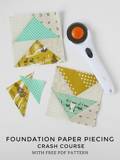 Foundation Paper Piecing Tutorial - With FREE Pattern! // Michael Ann Made